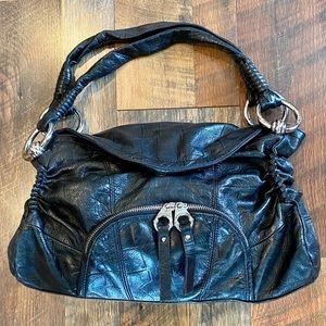 B. MAKOWSKY Soft Black Leather Handbag